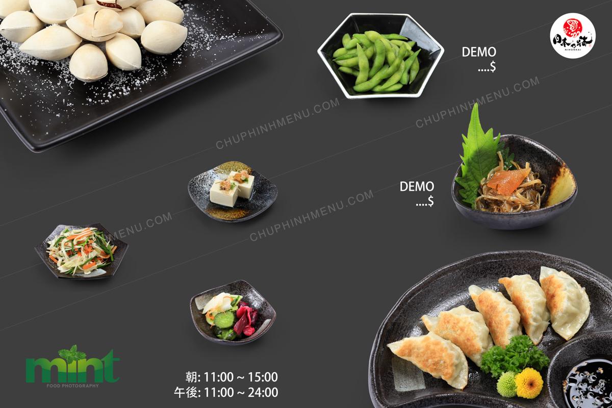 Chụp hình món ăn nền trắng làm menu