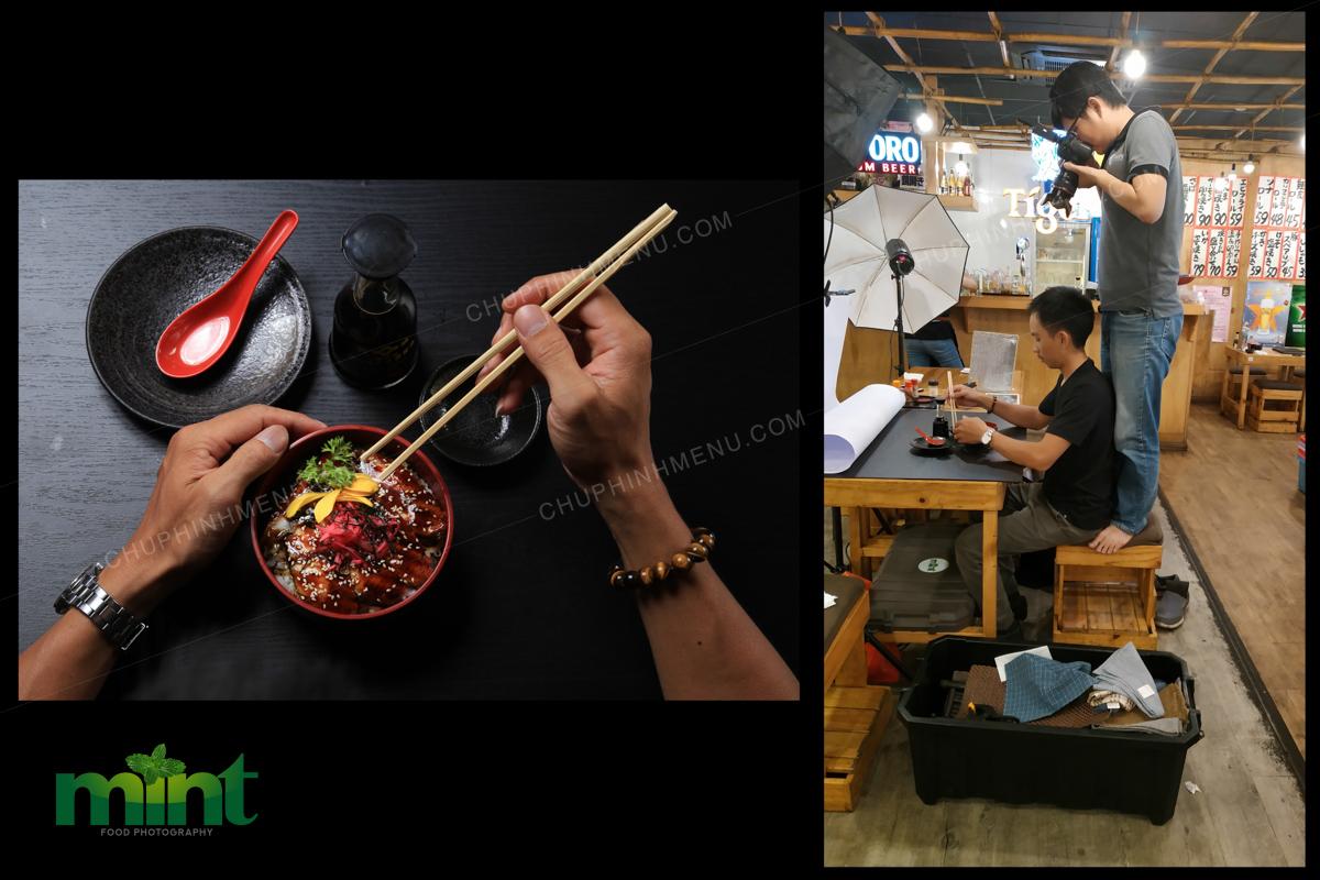 Hậu trường chụp hình món ăn nhà hàng MANMARU