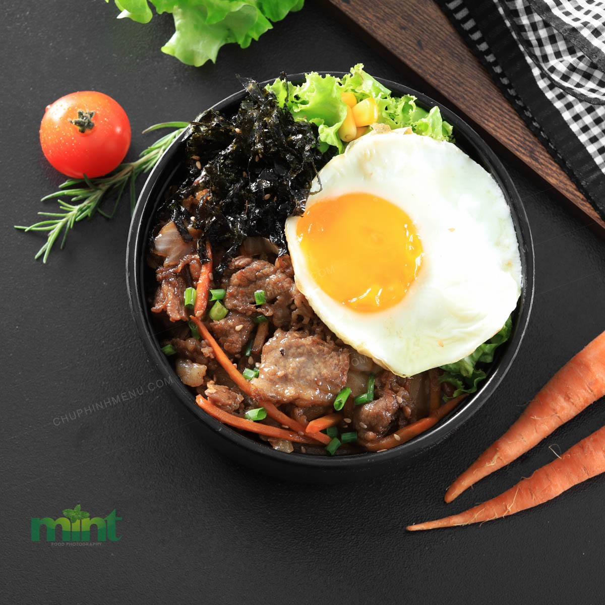 Chụp hình món ăn Hàn Quốc