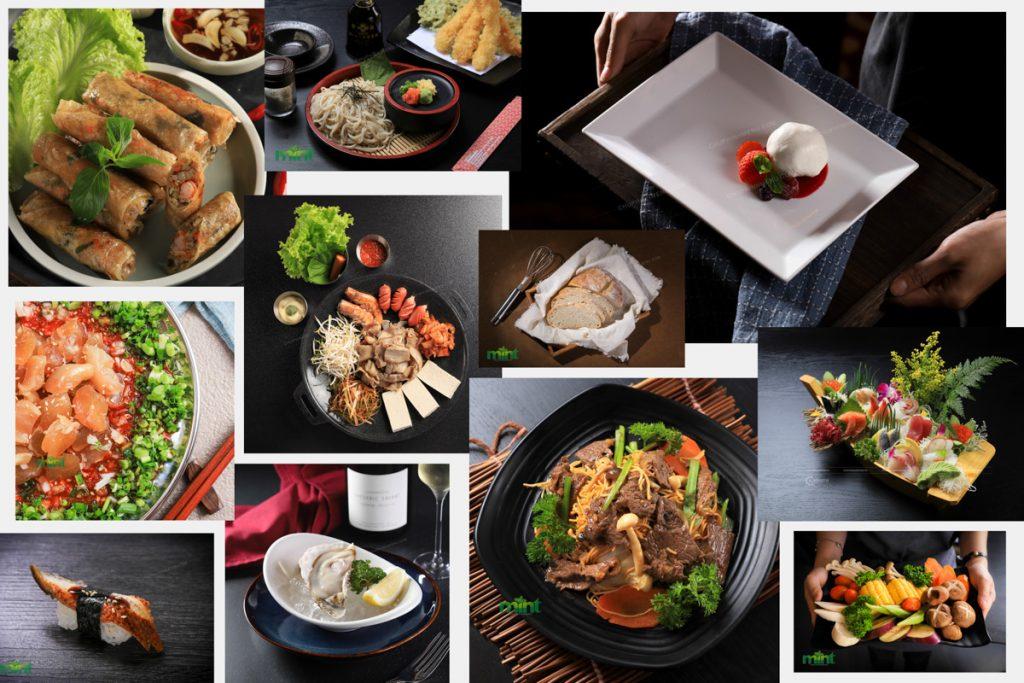 Chụp ảnh món ăn có background (phông nền)